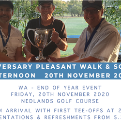 20th Anniversary Pleasant Walk & Social Golf Afternoon